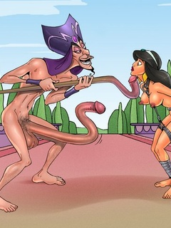 Princess Jasmine and Jafar prefer BDSM - BDSM Art Collection - Pic 1
