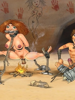 Croods enjoy really crazy Stone Age - BDSM Art Collection - Pic 1