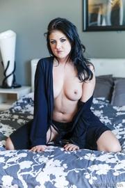 brunette whore black bathrobe