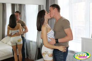 Brunette slim teen gets her pussy licked before dirty banging with her boyfriend - XXXonXXX - Pic 3