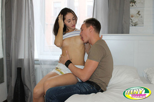 Brunette slim teen gets her pussy licked before dirty banging with her boyfriend - XXXonXXX - Pic 4