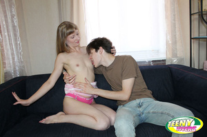 Fair-haired freshie in pink undies jumping on a dick after having blown it - XXXonXXX - Pic 5