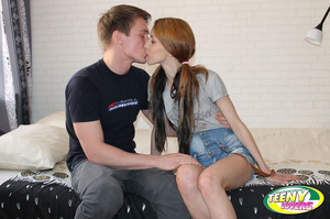 Dirty pigtailed teen girl loves banging with her boyfriend in various poses - XXXonXXX - Pic 1