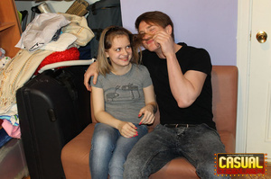 Slutty teen in a grey T-shirt and hair band fucking with her BF - XXXonXXX - Pic 4