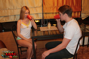 Slim fair-haired teeny in white socks gets finally assfucked after hot BJ and pussy drilling - XXXonXXX - Pic 1