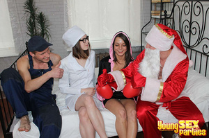 Costumed capers erupt among youngsters in getups including a farmer, boxer, sexy surgeon and Santa. - XXXonXXX - Pic 3