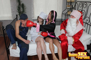 Costumed capers erupt among youngsters in getups including a farmer, boxer, sexy surgeon and Santa. - XXXonXXX - Pic 4