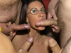 Hot brunette with glasses displays her alluring - XXXonXXX - Pic 3