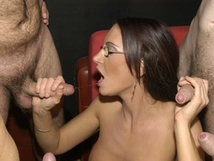 Hot brunette with glasses displays her alluring - XXXonXXX - Pic 6