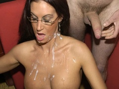 Hot brunette with glasses displays her alluring - XXXonXXX - Pic 11