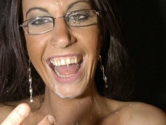 Hot brunette with glasses displays her alluring - XXXonXXX - Pic 14