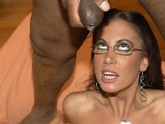 Smoking hot brunette wearing glasses and black - XXXonXXX - Pic 3