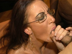 Smoking hot brunette wearing glasses and black - XXXonXXX - Pic 10