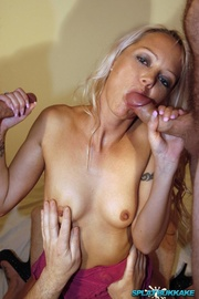 blonde hottie wearing pink