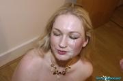 dazzling blonde displays her