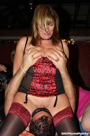 Mature chicks in luscious nighties loves to suck a group of hard cocks til they blow spunk on their faces. - XXXonXXX - Pic 2
