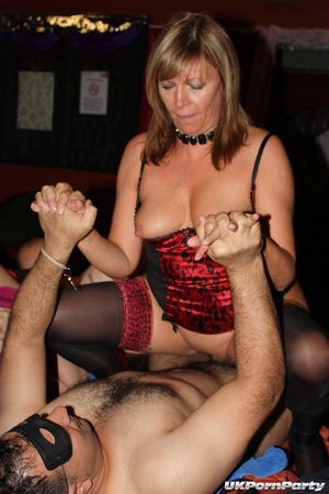Mature chicks in luscious nighties loves to suck a group of hard cocks til they blow spunk on their faces. - XXXonXXX - Pic 13