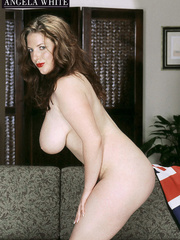Gorgeous fattie peels off her british flag dress and - Picture 11