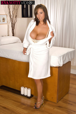 busty mom takes white