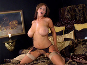 busty chick slowly takes