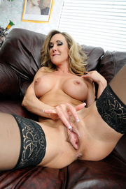 blonde milf spreads her