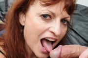 redhead cougar peels off