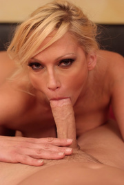 alluring cougar teasing while