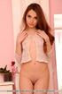 Spy a captivating beauty in her feminine bedroom…