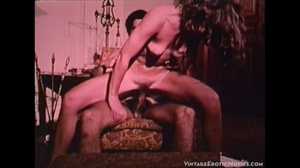 Hot photos of the early pornstars masturbating by rubbing their twats or stuffing them with bottles while others get their bushy holes licked and fucked in different positions. - XXXonXXX - Pic 9