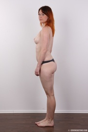 lovely redhead takes off