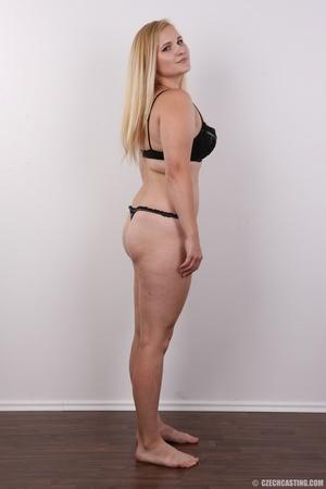 Pretty blonde slowly peels off her black - XXX Dessert - Picture 8