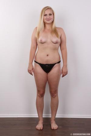 Pretty blonde slowly peels off her black - XXX Dessert - Picture 10