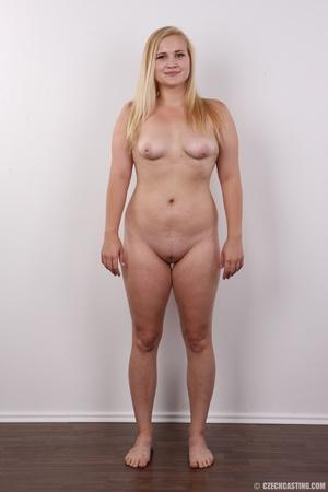 Pretty blonde slowly peels off her black - XXX Dessert - Picture 12