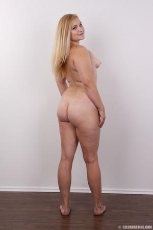 Pretty blonde slowly peels off her black - XXX Dessert - Picture 15