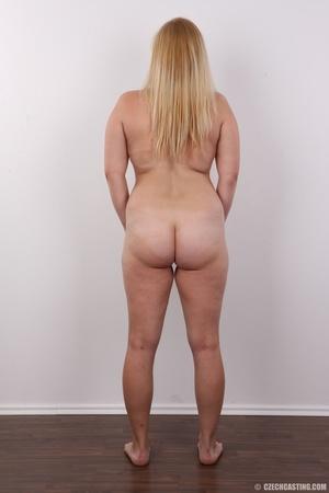 Pretty blonde slowly peels off her black - XXX Dessert - Picture 16