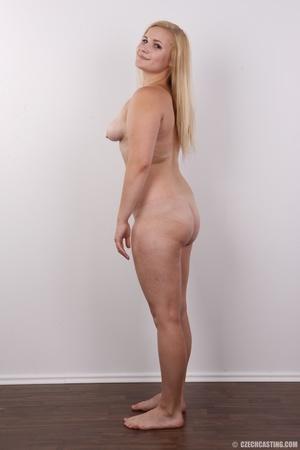 Pretty blonde slowly peels off her black - XXX Dessert - Picture 17