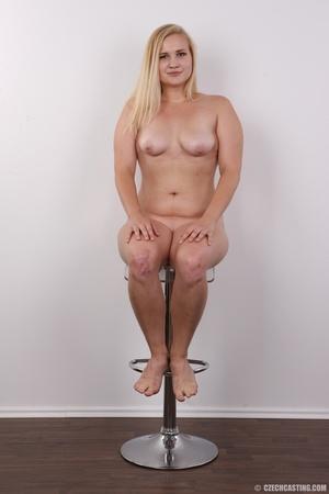 Pretty blonde slowly peels off her black - XXX Dessert - Picture 18