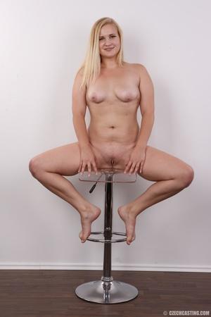 Pretty blonde slowly peels off her black - XXX Dessert - Picture 19