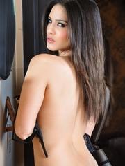 Impeccable slut drops her black and white lingerie - XXXonXXX - Pic 6