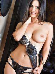 Impeccable slut drops her black and white lingerie - XXXonXXX - Pic 7