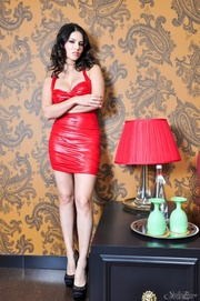 exceptional vamp red dress