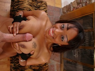 Dirty ebony whore with enormous boobies enjoys lesbian - Picture 3