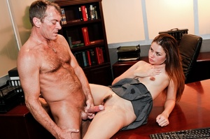 Outstanding woman in a grey skirt gets jizzed by a guy at the office. - XXXonXXX - Pic 15