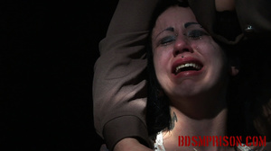 Emo chick in a white dress experiences pain from clothes pins and mouse traps - XXXonXXX - Pic 10
