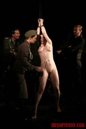 Chained naked girl gets tortured and pisses at the dungeon. - XXXonXXX - Pic 9