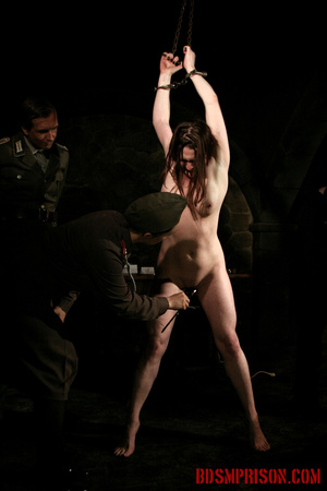 Chained naked girl gets tortured and pisses at the dungeon. - XXXonXXX - Pic 10