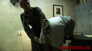 Chubby lady guard gets her butt spanked for letting a prisoner escape. - XXXonXXX - Pic 10