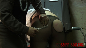 Chubby lady guard gets her butt spanked for letting a prisoner escape. - XXXonXXX - Pic 11