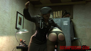 Chubby lady guard gets her butt spanked for letting a prisoner escape. - XXXonXXX - Pic 14