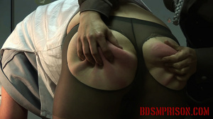 Chubby lady guard gets her butt spanked for letting a prisoner escape. - XXXonXXX - Pic 15